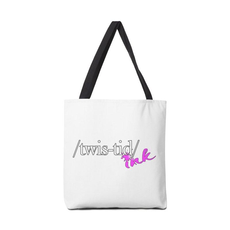 Twistid pink Accessories Bag by Twistid ink's Artist Shop