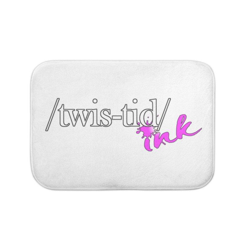 Twistid pink Home Bath Mat by Twistid ink's Artist Shop