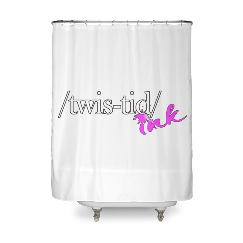 Twistid pink Home Shower Curtain by Twistid ink's Artist Shop
