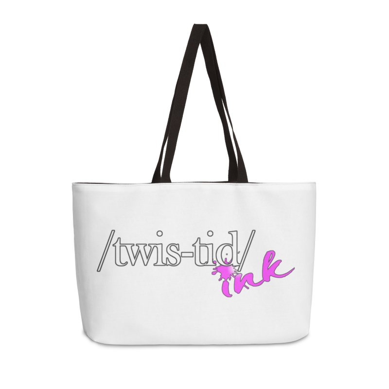 Twistid pink Accessories Weekender Bag Bag by Twistid ink's Artist Shop