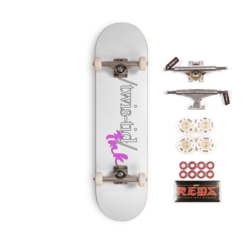 Twistid pink Accessories Skateboard by Twistid ink's Artist Shop