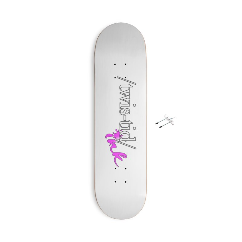 Twistid pink Accessories With Hanging Hardware Skateboard by Twistid ink's Artist Shop