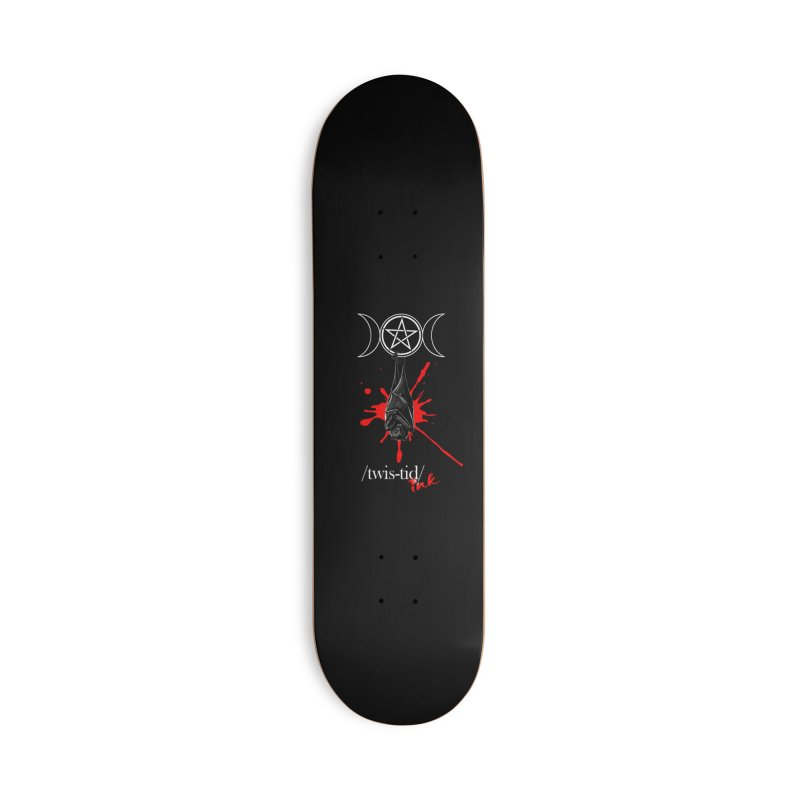 Twistid Bat Accessories Deck Only Skateboard by Twistid ink's Artist Shop