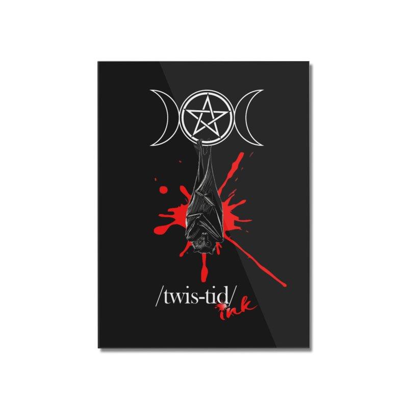 Twistid Bat Home Mounted Acrylic Print by Twistid ink's Artist Shop