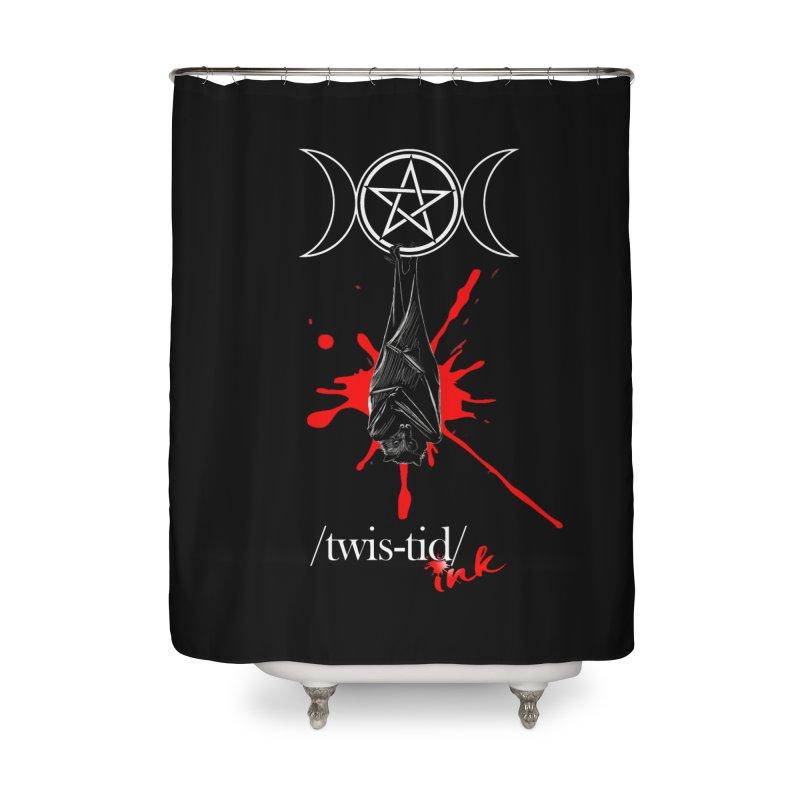 Twistid Bat Home Shower Curtain by Twistid ink's Artist Shop