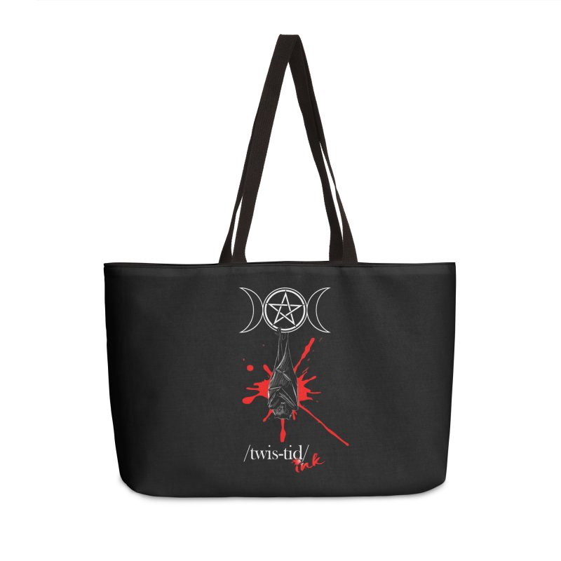 Twistid Bat Accessories Weekender Bag Bag by Twistid ink's Artist Shop