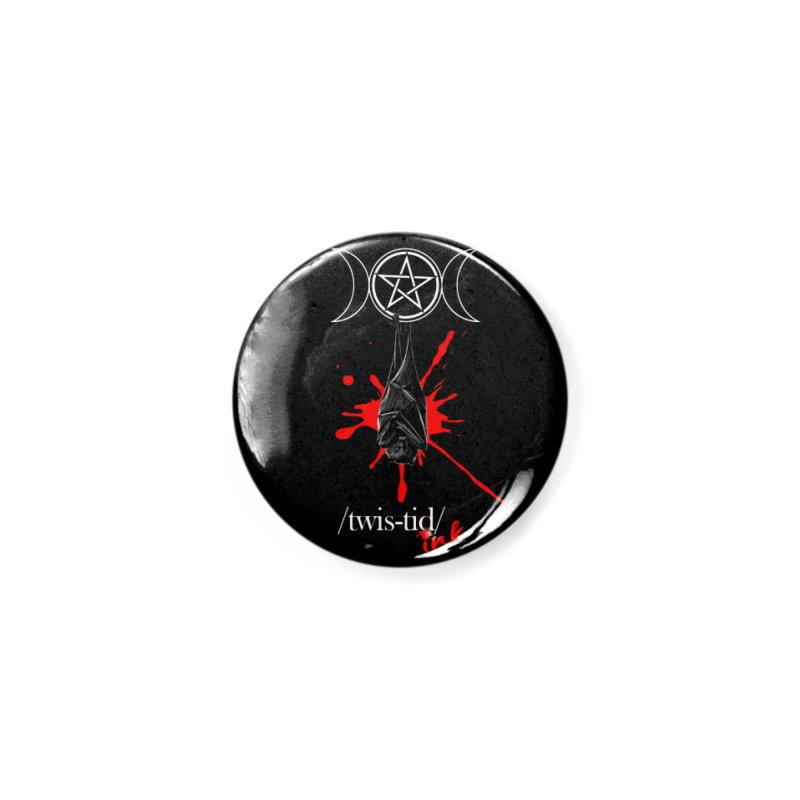 Twistid Bat Accessories Button by Twistid ink's Artist Shop