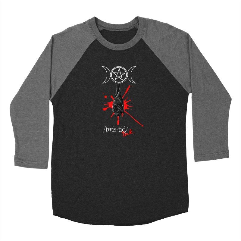 Twistid Bat Men's Baseball Triblend Longsleeve T-Shirt by Twistid ink's Artist Shop