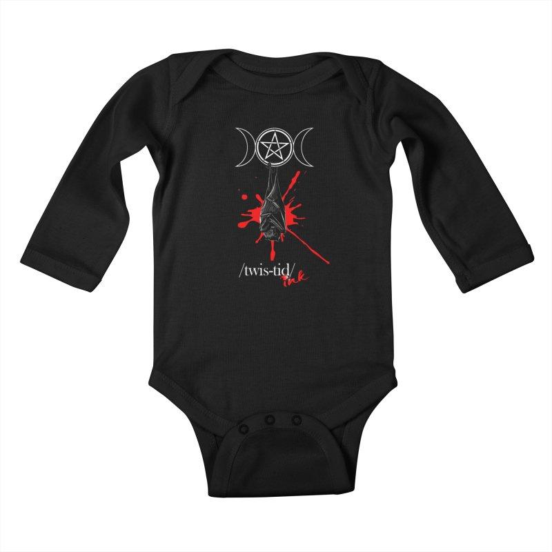 Twistid Bat Kids Baby Longsleeve Bodysuit by Twistid ink's Artist Shop