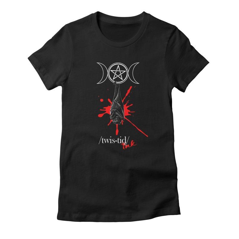 Twistid Bat Women's T-Shirt by Twistid ink's Artist Shop