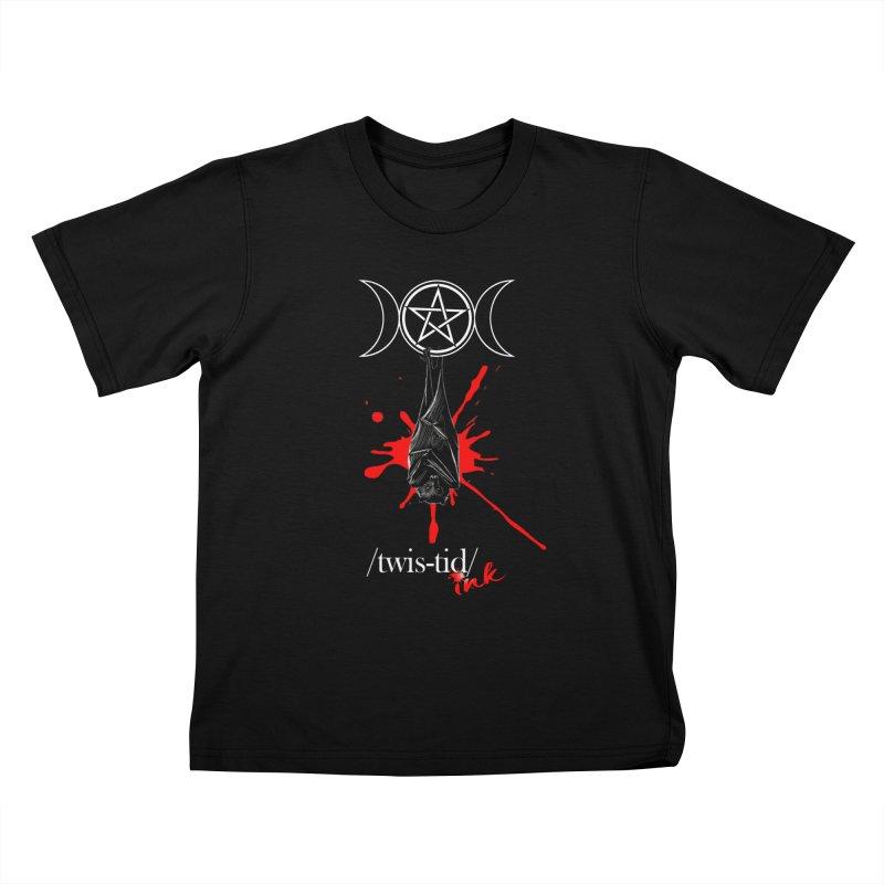 Twistid Bat Kids T-Shirt by Twistid ink's Artist Shop