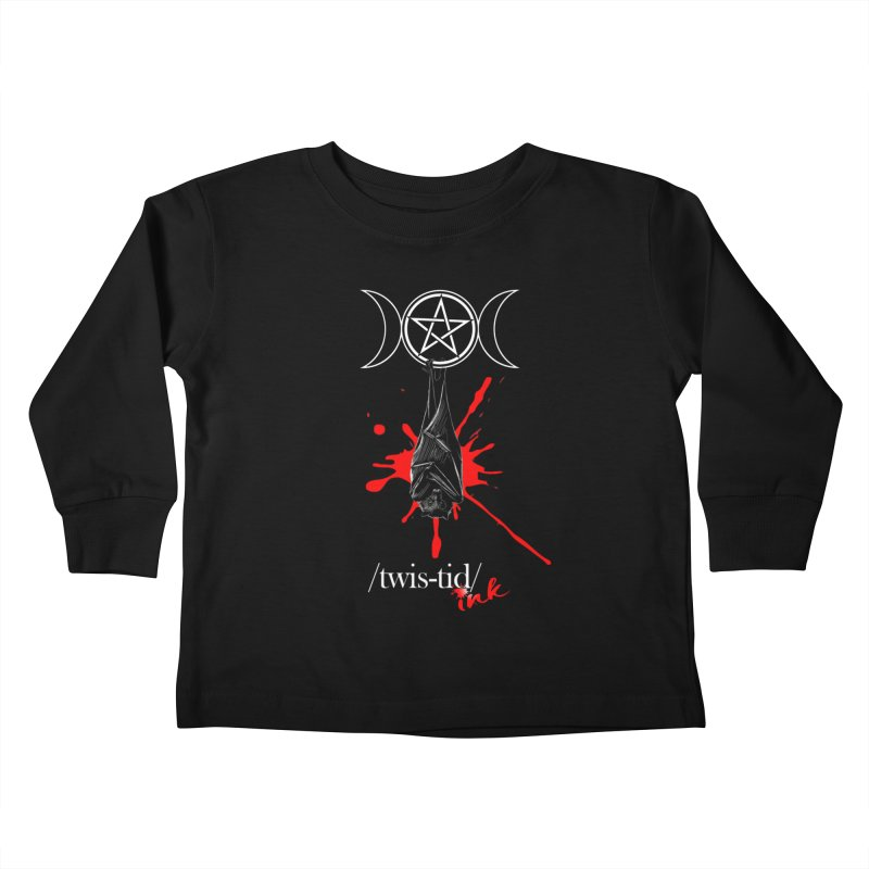 Twistid Bat Kids Toddler Longsleeve T-Shirt by Twistid ink's Artist Shop