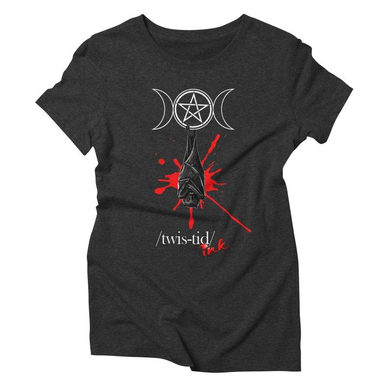 Twistid Bat Women's Triblend T-Shirt by Twistid ink's Artist Shop