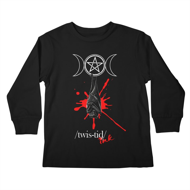 Twistid Bat Kids Longsleeve T-Shirt by Twistid ink's Artist Shop