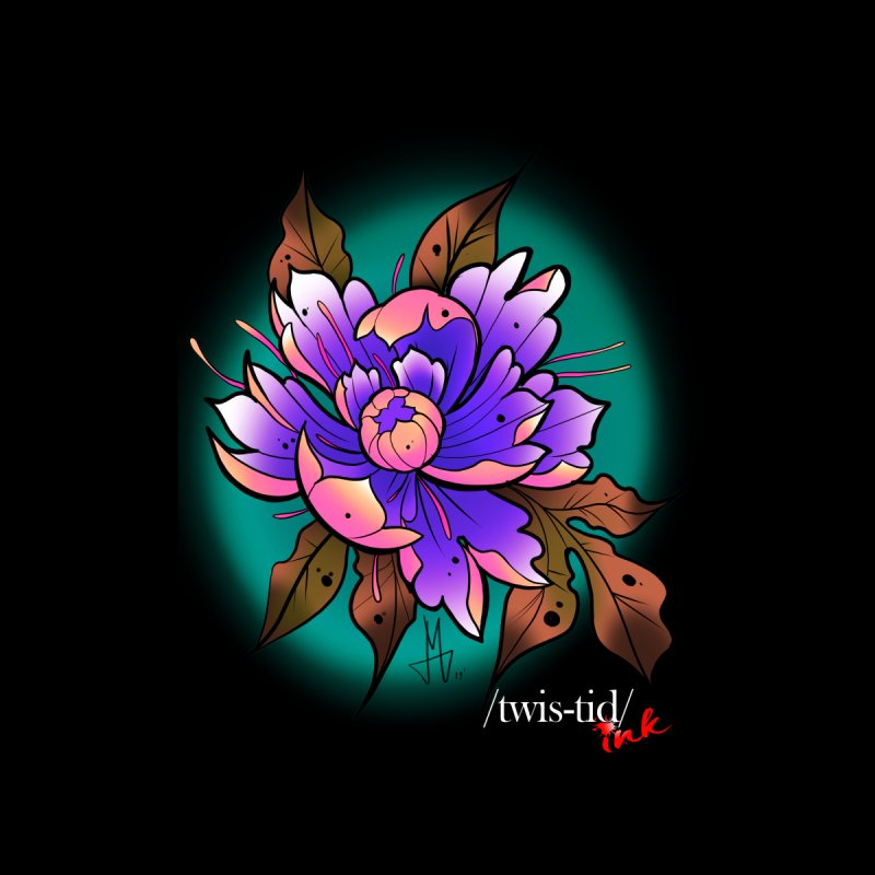 Twistid Flower pink n purple Accessories Sticker by Twistid ink's Artist Shop
