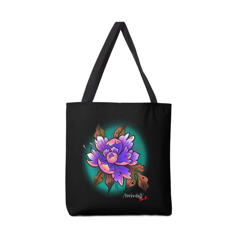 Twistid Flower pink n purple Accessories Bag by Twistid ink's Artist Shop