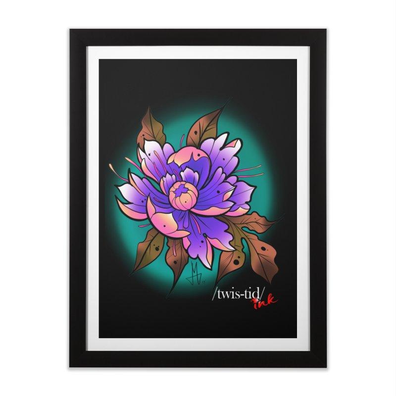 Twistid Flower pink n purple Home Framed Fine Art Print by Twistid ink's Artist Shop