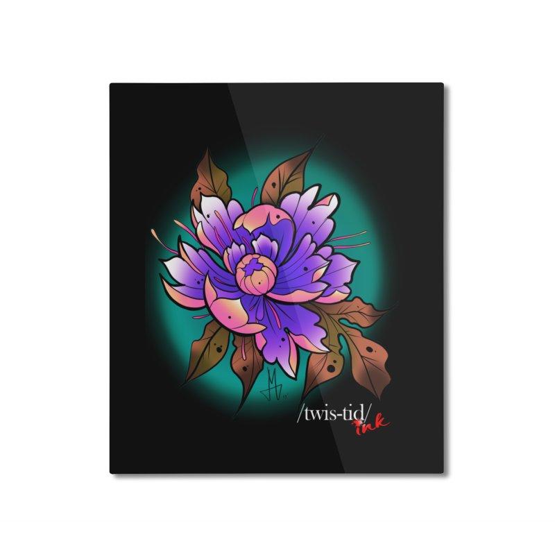 Twistid Flower pink n purple Home Mounted Aluminum Print by Twistid ink's Artist Shop