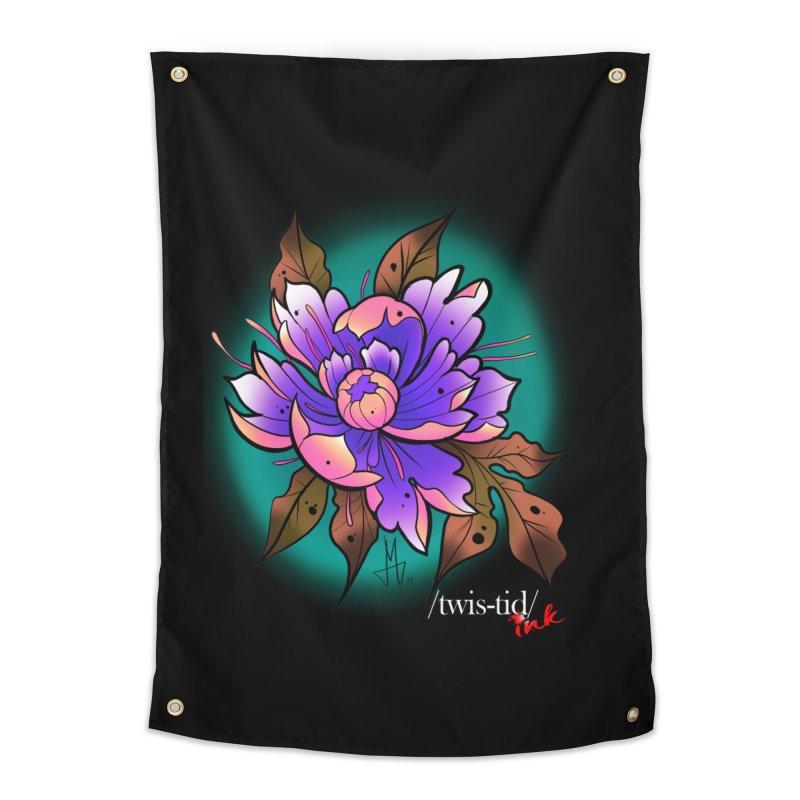 Twistid Flower pink n purple Home Tapestry by Twistid ink's Artist Shop