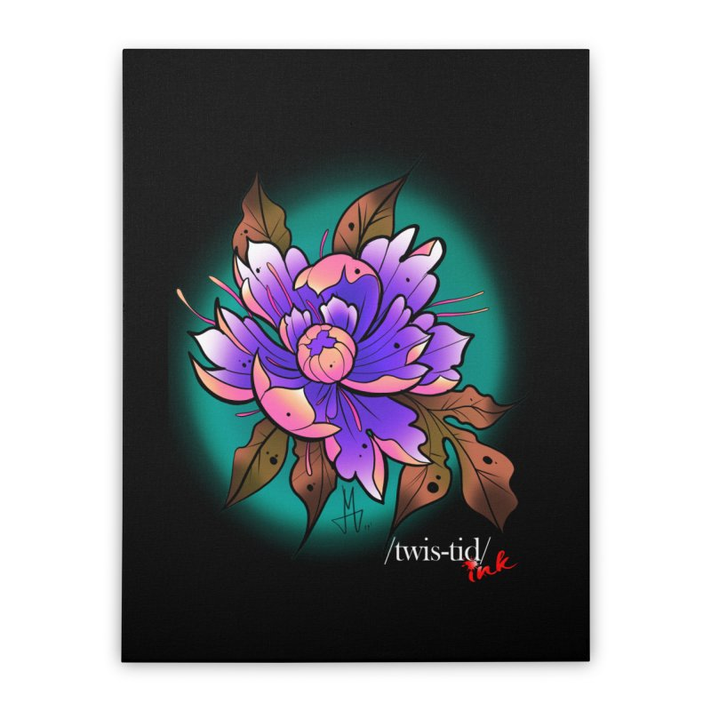 Twistid Flower pink n purple Home Stretched Canvas by Twistid ink's Artist Shop