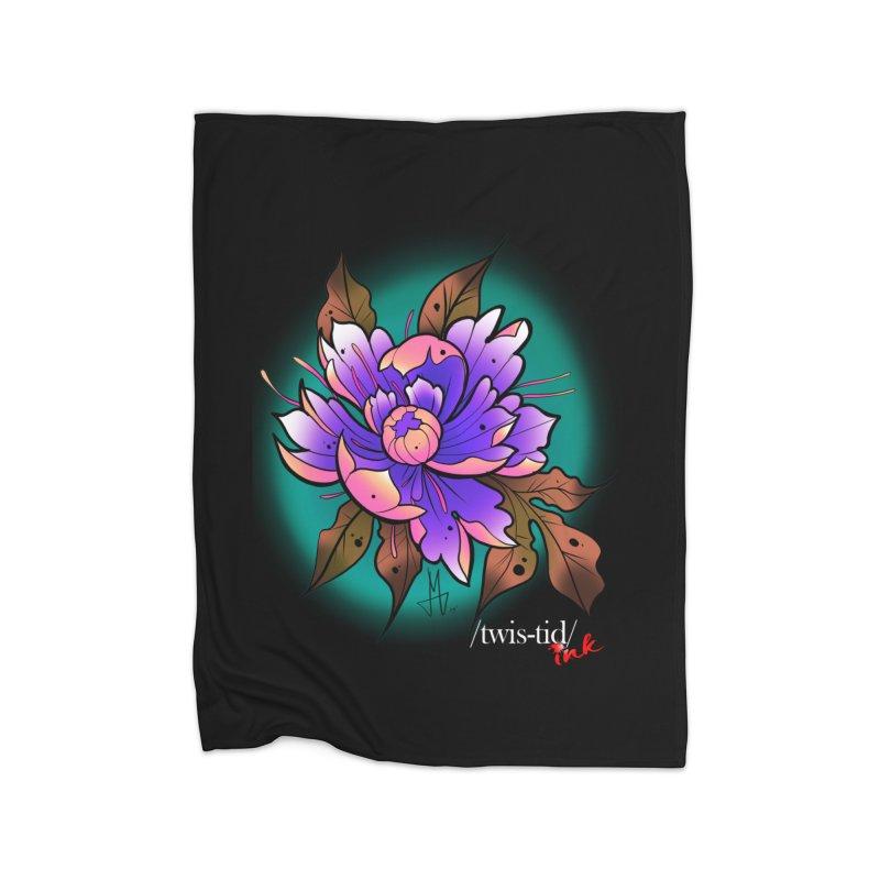 Twistid Flower pink n purple Home Blanket by Twistid ink's Artist Shop