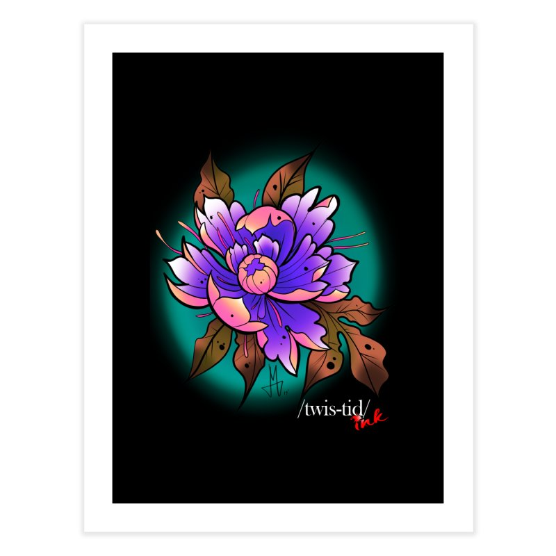 Twistid Flower pink n purple Home Fine Art Print by Twistid ink's Artist Shop