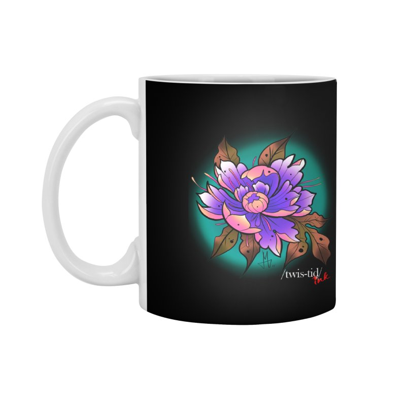 Twistid Flower pink n purple Accessories Mug by Twistid ink's Artist Shop