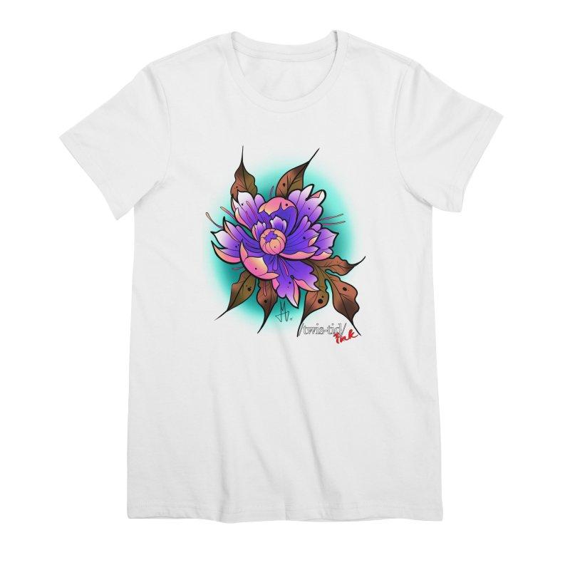 Twistid Flower pink n purple Women's Premium T-Shirt by Twistid ink's Artist Shop