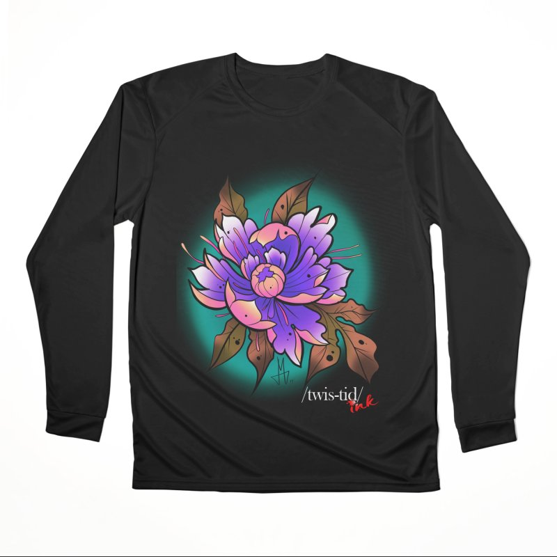 Twistid Flower pink n purple Men's Longsleeve T-Shirt by Twistid ink's Artist Shop