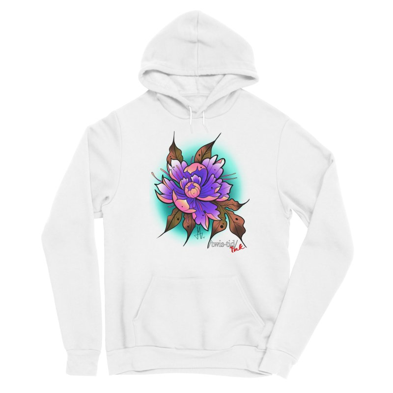 Twistid Flower pink n purple Women's Pullover Hoody by Twistid ink's Artist Shop