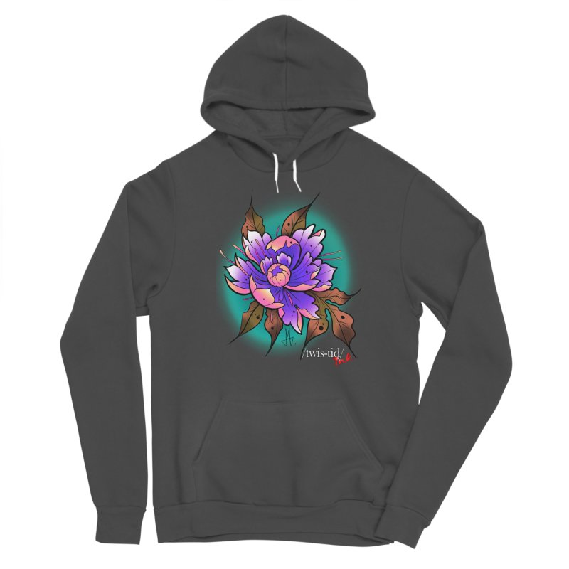 Twistid Flower pink n purple Women's Sponge Fleece Pullover Hoody by Twistid ink's Artist Shop