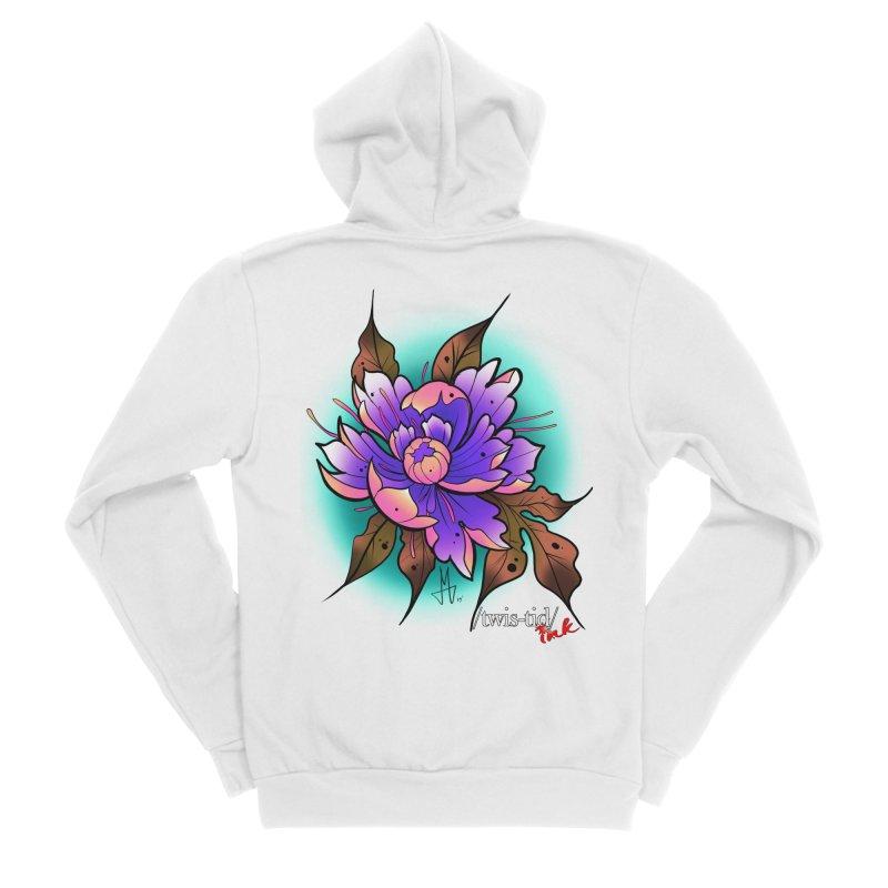 Twistid Flower pink n purple Men's Zip-Up Hoody by Twistid ink's Artist Shop