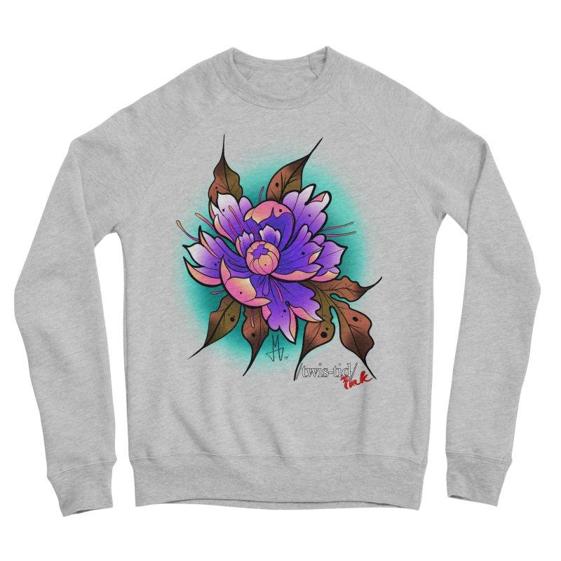 Twistid Flower pink n purple Men's Sweatshirt by Twistid ink's Artist Shop