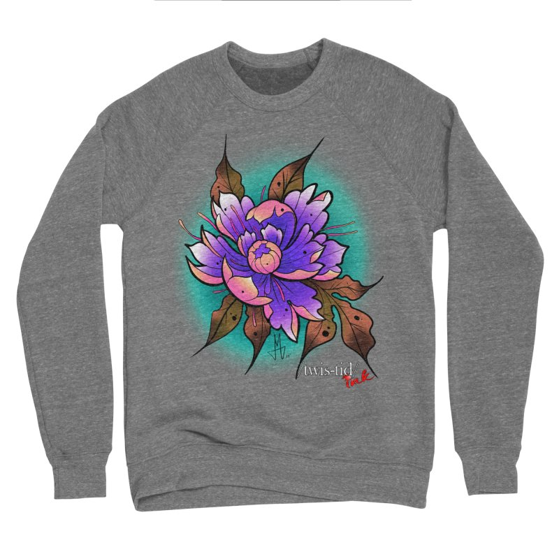 Twistid Flower pink n purple Women's Sweatshirt by Twistid ink's Artist Shop