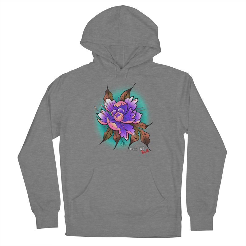 Twistid Flower pink n purple Men's Pullover Hoody by Twistid ink's Artist Shop