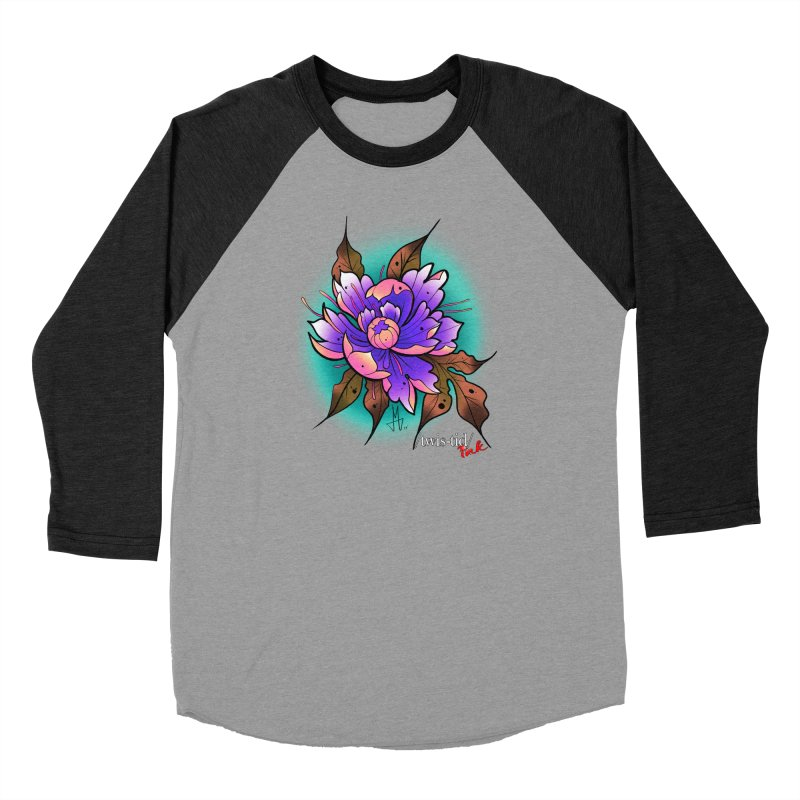 Twistid Flower pink n purple Men's Longsleeve T-Shirt by Twistid ink's Artist Shop