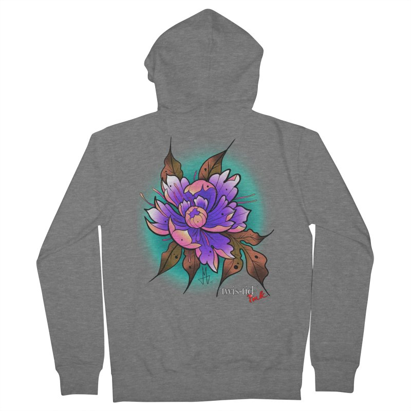 Twistid Flower pink n purple Women's Zip-Up Hoody by Twistid ink's Artist Shop