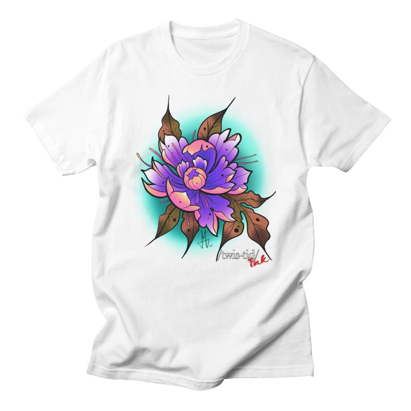 Twistid Flower pink n purple Men's T-Shirt by Twistid ink's Artist Shop