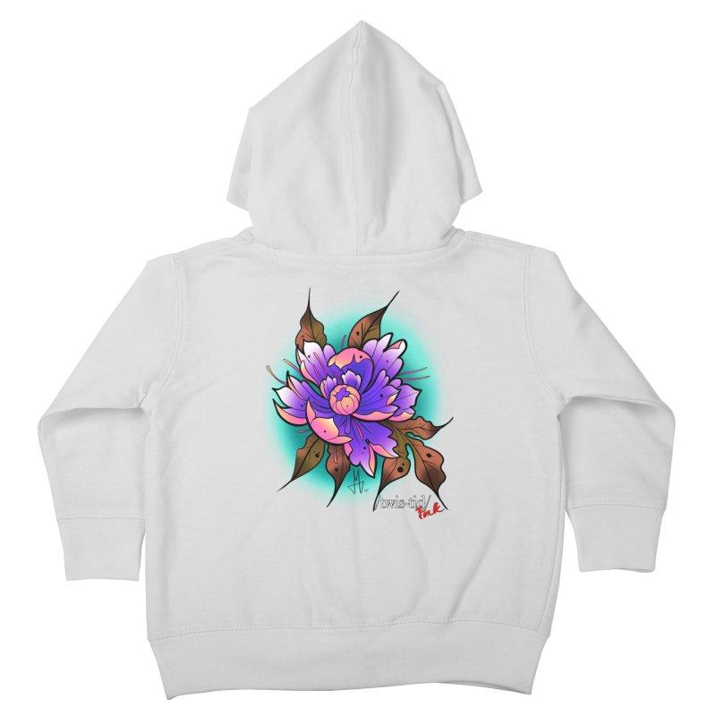 Twistid Flower pink n purple Kids Toddler Zip-Up Hoody by Twistid ink's Artist Shop