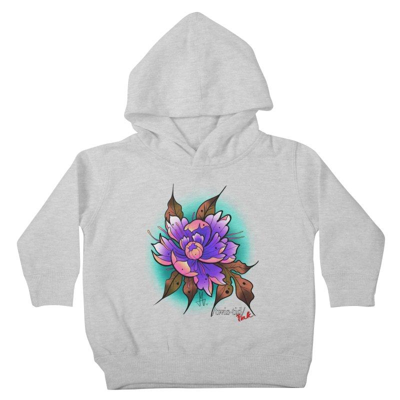 Twistid Flower pink n purple Kids Toddler Pullover Hoody by Twistid ink's Artist Shop