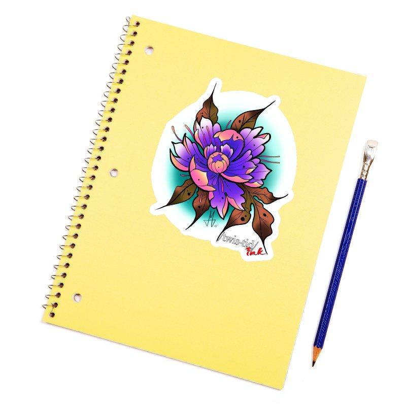 Twistid Flower pink n purple Accessories Sticker by Twistid ink's Artist Shop