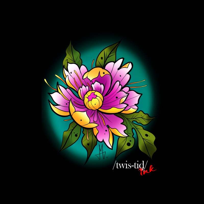 Twistid Flower yellow n pink Women's Tank by Twistid ink's Artist Shop