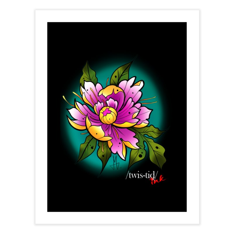 Twistid Flower yellow n pink Home Fine Art Print by Twistid ink's Artist Shop