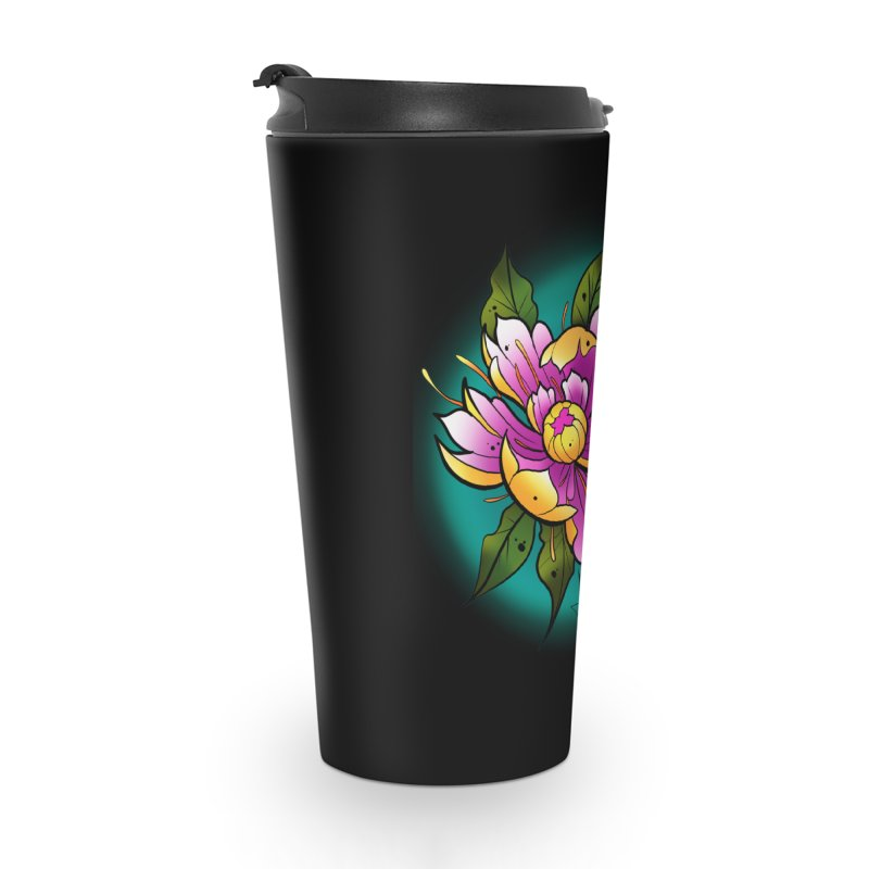 Twistid Flower yellow n pink Accessories Mug by Twistid ink's Artist Shop