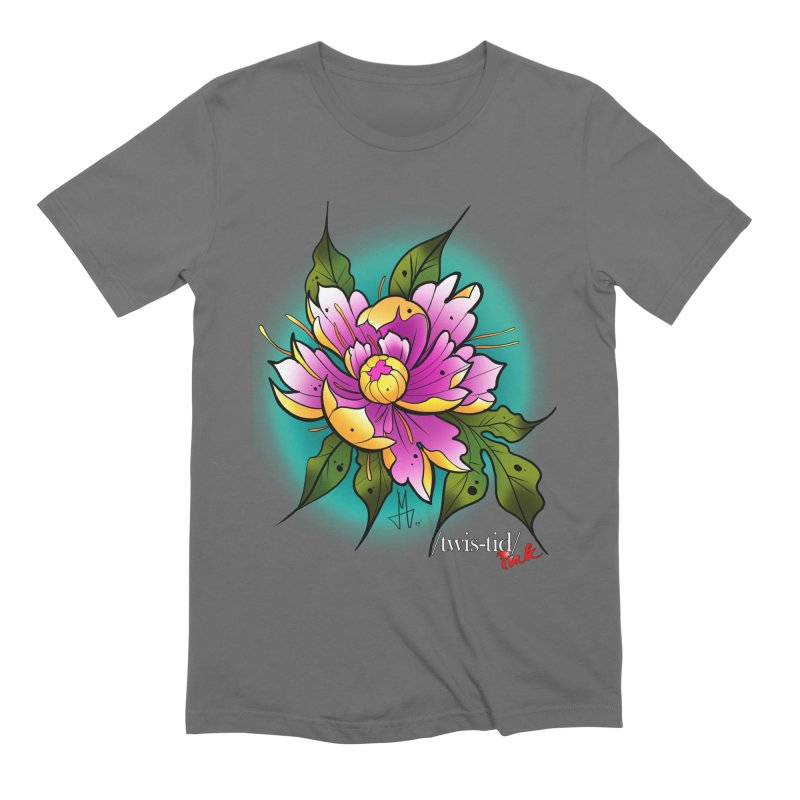 Twistid Flower yellow n pink Men's T-Shirt by Twistid ink's Artist Shop
