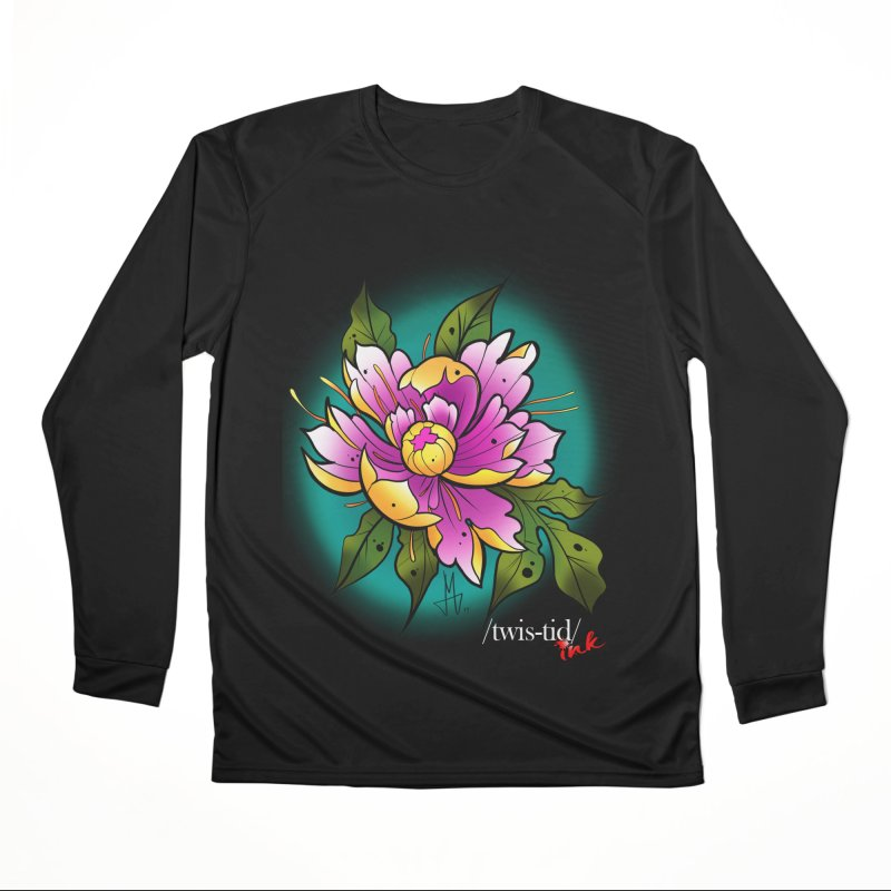 Twistid Flower yellow n pink Men's Performance Longsleeve T-Shirt by Twistid ink's Artist Shop