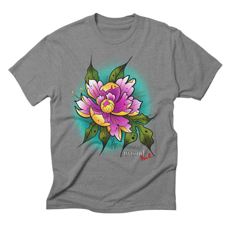 Twistid Flower yellow n pink Men's T-Shirt by Twistid ink's Artist Shop