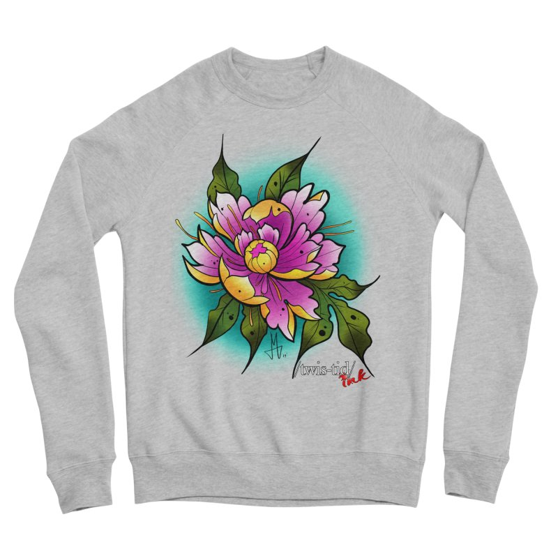 Twistid Flower yellow n pink Men's Sponge Fleece Sweatshirt by Twistid ink's Artist Shop