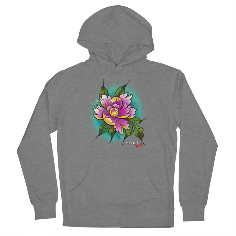 Twistid Flower yellow n pink Men's French Terry Pullover Hoody by Twistid ink's Artist Shop