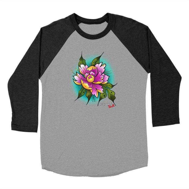 Twistid Flower yellow n pink Women's Longsleeve T-Shirt by Twistid ink's Artist Shop